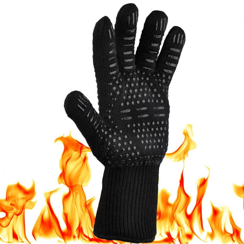 Жаропрочная перчатка для гриля LoveGrill, черная - 1001035