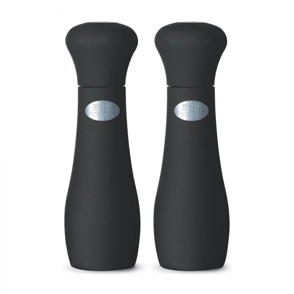 Перцемолка для соли и перца Weber, черный, 19 см (Weber Style) - 17093