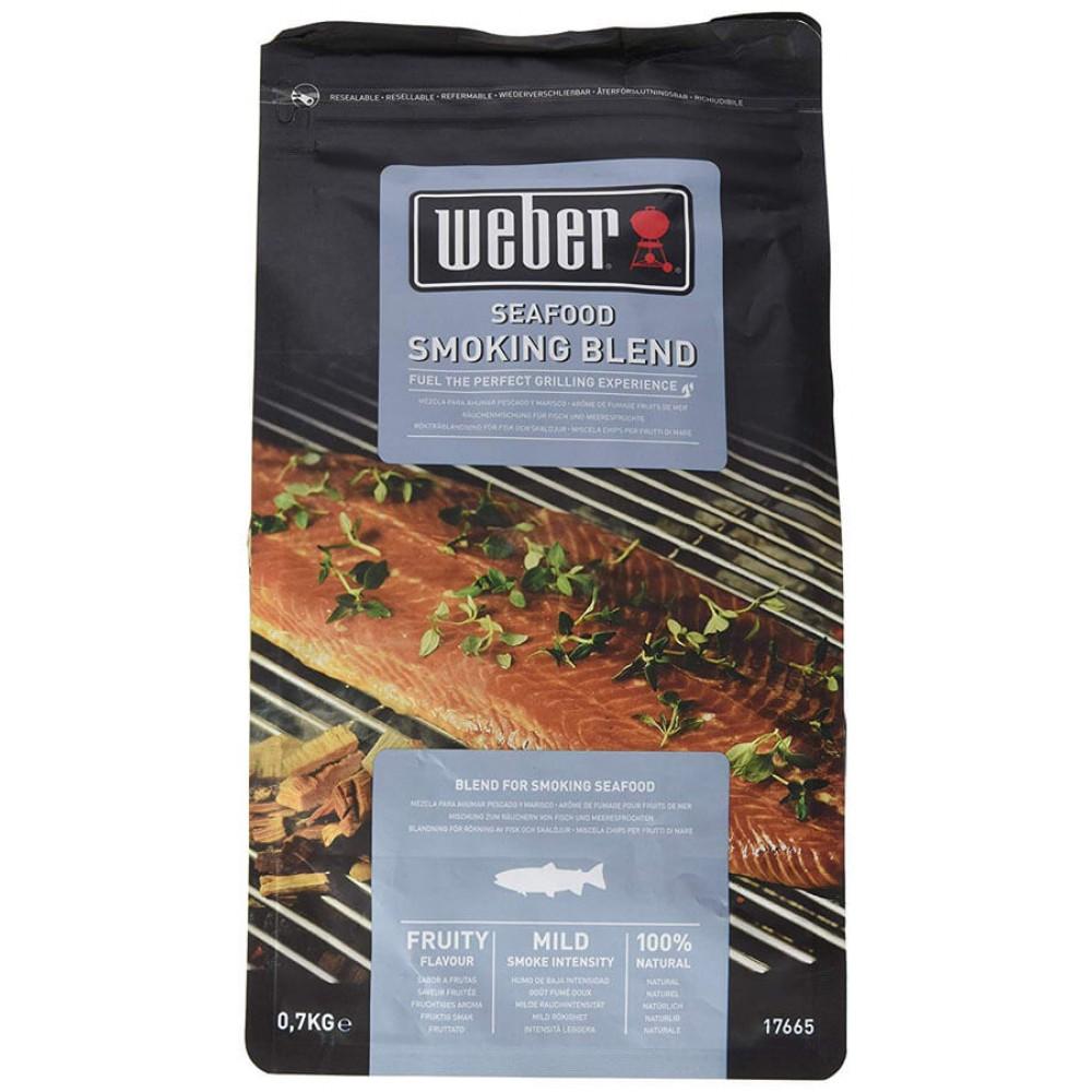 Щепа для копчения Weber к рыбе и морепродуктам, 0,7 кг - 17665