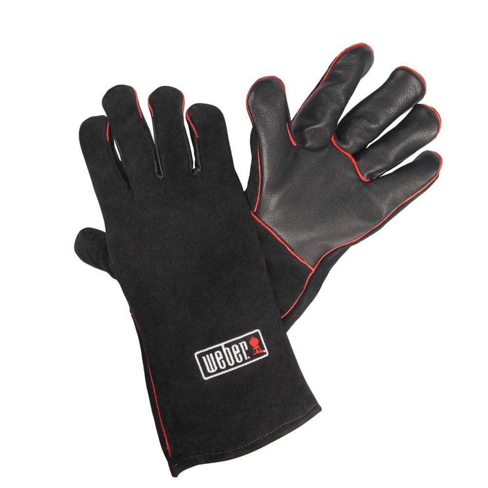 Кожаные жаропрочные перчатки для гриля Weber  - 17896